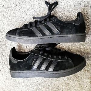 Adidas campus black suede